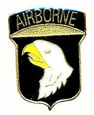 Ціна Знаки ідентифікації, шеврони / US Army 101st Airborne Hat Lapel Pin