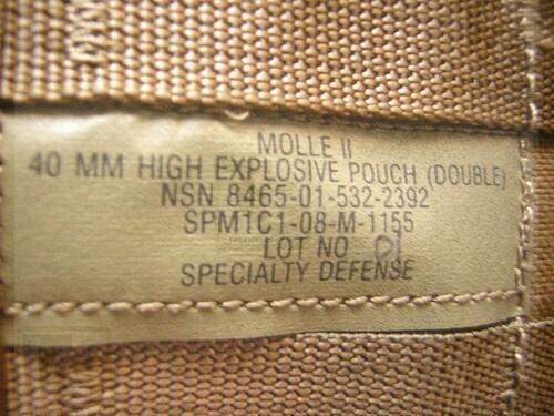 Ціна Підсумок для Гранат Підствольні / Гранатний 40мм підсумок армії США USGI Molle II 40mm High Explosive Pouch, Double