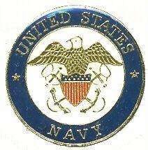 US Navy Crest Logo Hat Lapel Pin