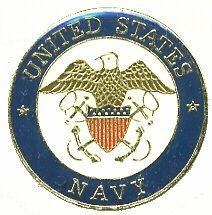 US Navy Crest Logo Hat Lapel Pin