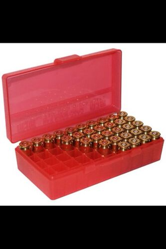 Ціна Бокси для набоїв, замки для зброї / Бокс для патронів 9мм Berry's 50rd 9mm / 25 / 30 / 380 / ACP / 9x18 / MAK / 30 / Luger Plastic Ammo Rifle Box (Clear) 401