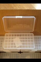 Berry's 50rd 9mm / 25 / 30 / 380 / ACP / 9x18 / MAK / 30 / Luger Plastic Ammo Rifle Box (Clear) 401