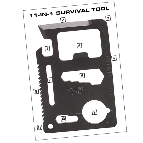 Ціна Мультитули / Мультитул виживання NDuR 11-IN-1 Survival Tool 72000