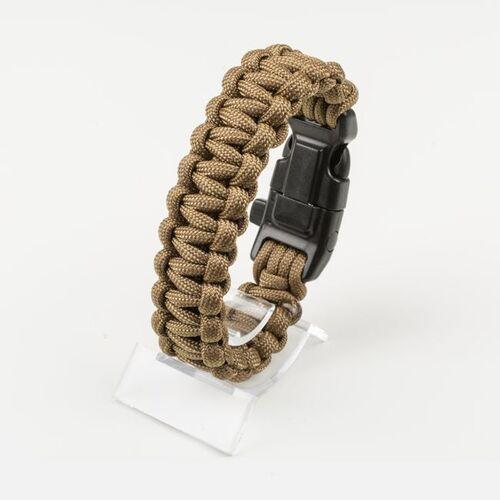 Ціна Паракорд, вироби з нього та аксесуари Paracord / EDCX Браслет з паракорду Survival FSB0001, плетіння Кобра зі свистком, кресалом та компасом
