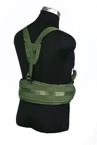 Ціна Ременеві Плечові Системи (РПС), розвантажувальні пояси, ремені, жилети та стегнові панелі / Тактичний молле пояс із підтягами Pantac Molle Cummerbund with Y-shape Suspender BT-C002, Cordura