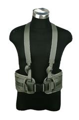 Тактичний молле пояс із підтягами Pantac Molle Cummerbund with Y-shape Suspender BT-C002, Cordura