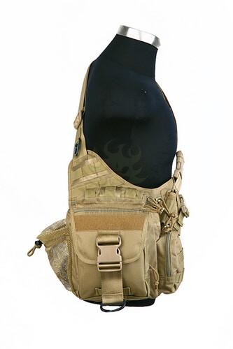 Ціна Сумки. Поясні, Плечові та для прихованого носіння зброї / Тактична плечова сумка Shark Gear Fatboy Bag 70006011, 900D