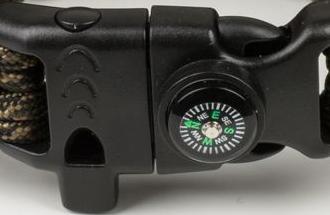 Ціна Паракорд, вироби з нього та аксесуари Paracord / EDCX Браслет з паракорду FSB0051, плетіння Піранья із свистком, кресалом та компасом