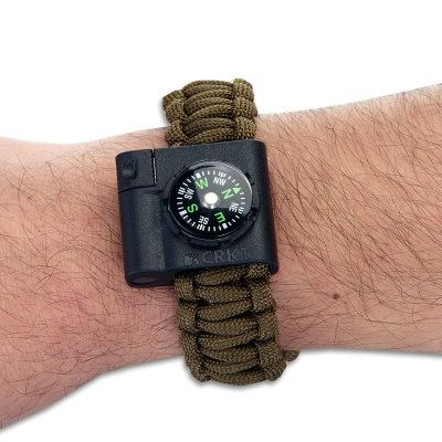 Ціна Паракорд, вироби з нього та аксесуари Paracord / Аксесуар для паракордового браслету CRKT Survival Bracelet Accessory 9700 - Compass and LED