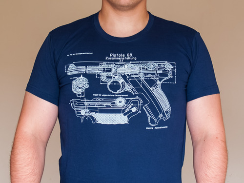 Ціна Футболки / Kalash Tactical Футболка Parabellum pistol Model 1908