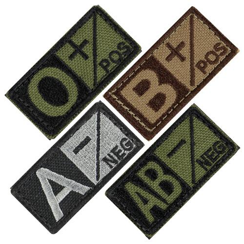 Ціна Знаки ідентифікації, шеврони / Шеврон патч групи крові Condor BLOOD TYPE PATCH 229