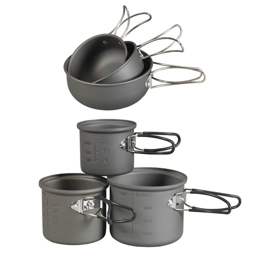 Ціна Посуд та столове приладдя / NDUR 6 PIECE ESSENTIALS COOKWARE MESS KIT 22600