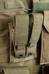 Shark 80001202 Molle 9mm Pistol Double Mag Pouch, 900D
