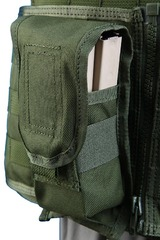 Shark 80001889 Molle FLC M4 Single Dual-Mag Pouch, 900D (discontinued)