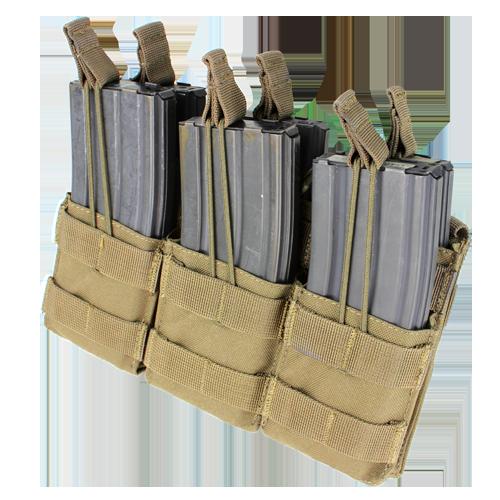 Ціна Підсумок для Магазинів гвинтівки (AR/М-серія та інші) / Підсумок потрійний для AR магазинів карабіну молле Condor Triple Stacker M4 Mag Pouch MA44