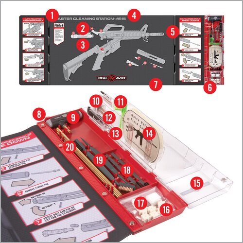 Ціна Чистка зброї / Розширений набір для чистки із килимком АР15 Real Avid MASTER CLEANING STATION™ – AR15 AVMCS