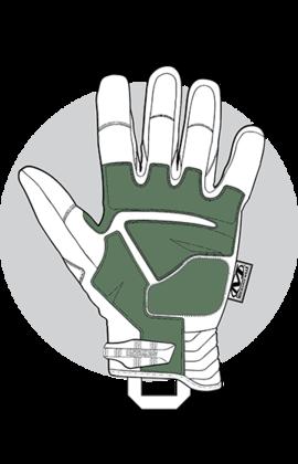 Ціна Рукавички. Комбіновані із шкірою, або синтетичні / Mechanix Wear M-Pact 2 Covert MP2-55