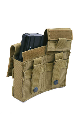 Ціна Підсумок для Магазинів гвинтівки (AR/М-серія та інші) / Pantac Molle Double M16 Mag Pouch With Plastic Insert PH-C826, Cordura