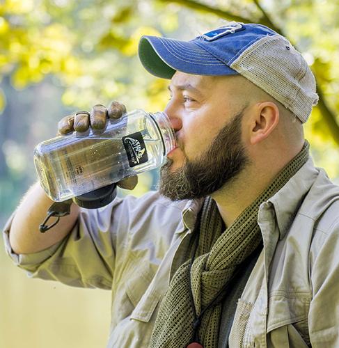 Ціна Військові фляги та пляшки / Helikon-Tex TRITAN™ BOTTLE WIDE MOUTH (1 LITER) - BLACK HY-WM1-TT