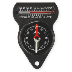 NDUR 51560 MINI COMPASS WITH THERMOMETER