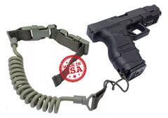 Kley-Zion KZ-PL Tactical Pistol Lanyard w/ Belt Loop Attachment