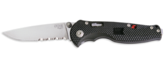 "SOG FSA97-CP ""FLASH I"" SATIN / DROP POINT / PARTIALLY SERRATED"