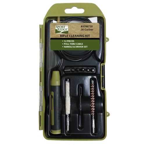 Ціна Чистка зброї / Набір для чистки нарізної зброї Tac Shield 12 Piece Rifle Cleaning Kit - .22/.30 Caliber 03967