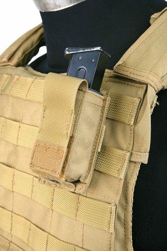 Ціна Підсумок для Магазинів пістолетних / Pantac Molle 9mm Single Mag Pouch With Hard Insert PH-C222, Cordura