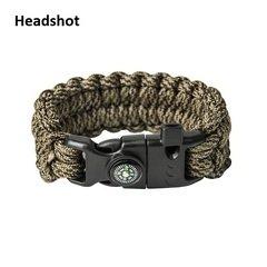 Паракордовий Браслет виживання EDCX FSB0053, плетіння Подвійна кобра зі свистком, кресалом та компасом