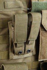 Підсумок пістолетних магазинів подвійний молле Pantac Molle 9mm Pistol Double Mag Pouch PH-C202, Cordura
