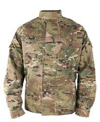 Військова вогнетривка уніформа армії США USGI Defender M FR ACU COMBAT COAT Multicam, 65/25/10 Rayon/Para-Aramid/Nylon