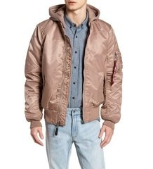 Куртка аляска Alpha Industries MA-1 Natus Flight Jacket, Mauve