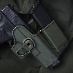Тактична полімерна кобура із додатковим магазинним підсумком для Glock 17/22/31/19/23/32/36 (також для Gen.4)  IMI-Z1023 (GK-3)