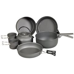 NDuR 9 PIECE COOKWARE MESS KIT W/KETTLE 22900