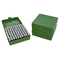 MTM CASE-GARD P-100 Series 100 Round Flip-top Handgun Ammo Box - 9mm
