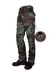 Тактичні військові штани Tru-Spec 24-7 Series 50/50 Cordura NYCO Woodland Original Tactical Pants w/ Cell Pocket